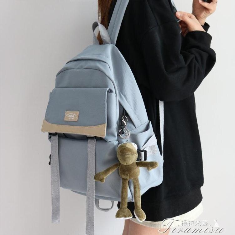 書包 日系書包女學生ins風工裝雙肩包韓版原宿高中學生書包女旅行背包 快速出貨