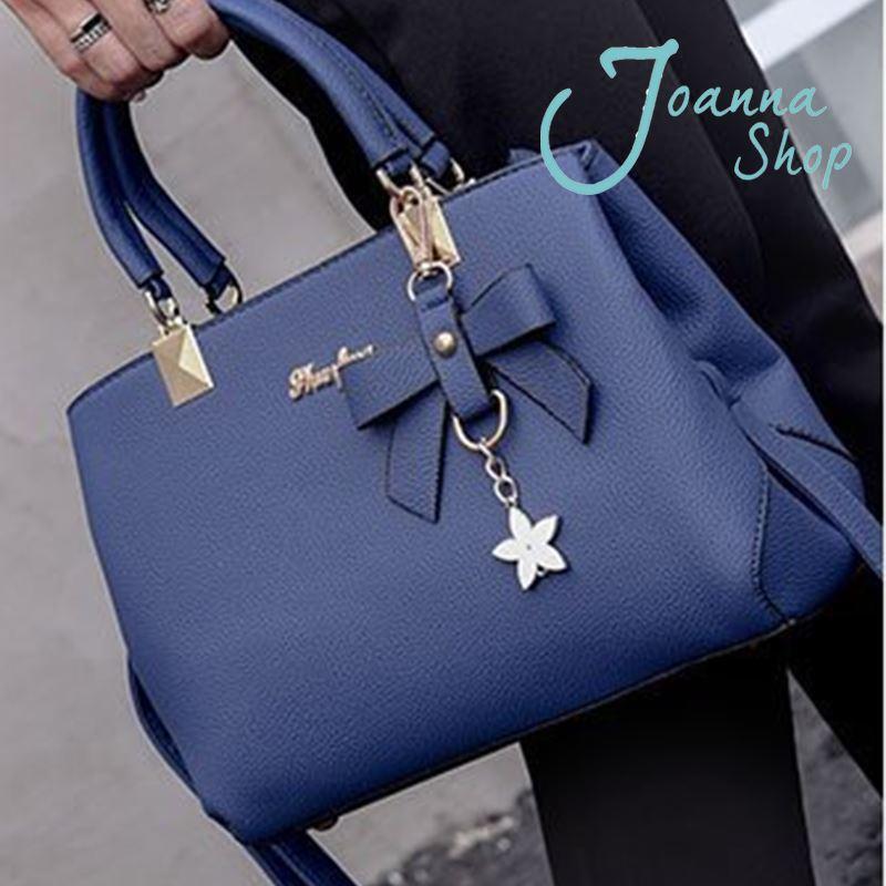 上班族必備hand bags蝴蝶結單肩斜挎包休閒女士包3-Joanna Shop