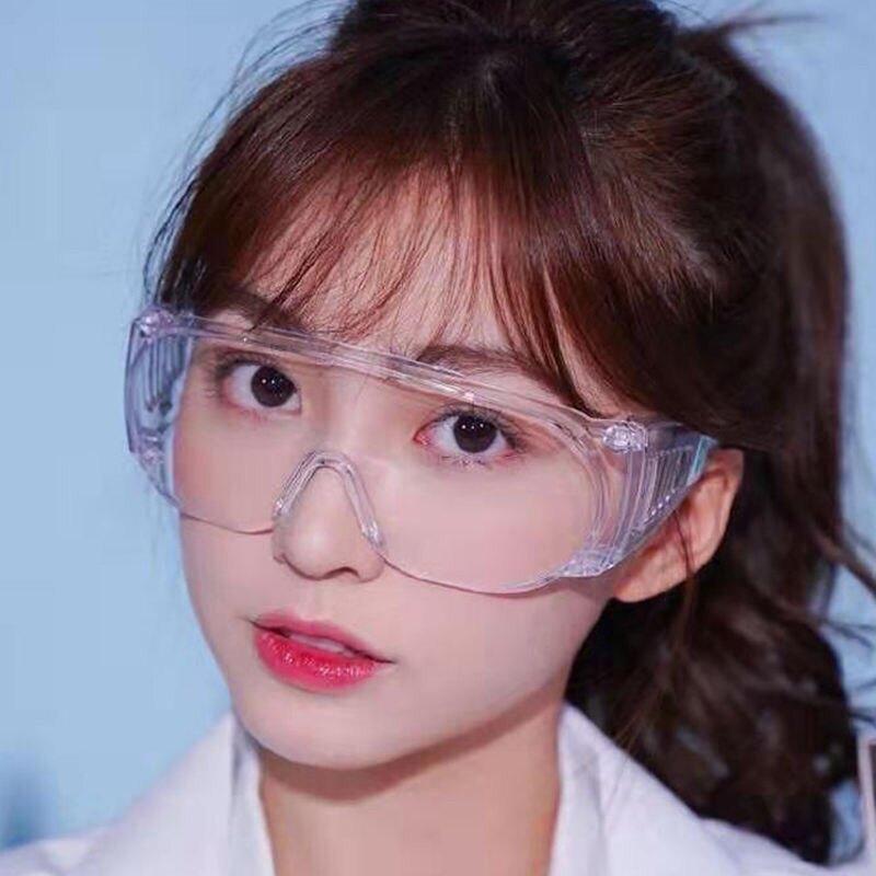M2高清透明防霧護目鏡防病毒防飛沫飛濺防塵防風防護眼鏡男女鏡