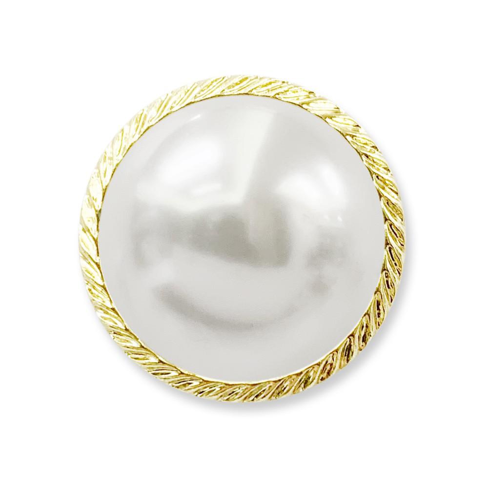 半面珍珠釦 ASB立腳釦 尿素珠 珍珠鈕釦 鎳黑/銀色/金色 7211