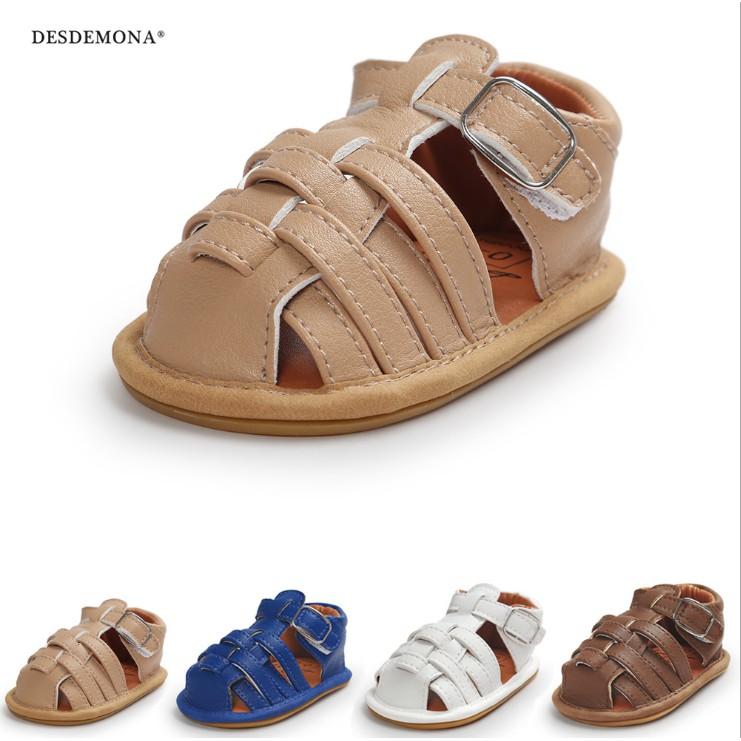 童鞋嬰幼童寶寶鞋 0-1歲男寶寶嬰兒涼鞋寶寶鞋軟底防滑學步鞋膠底涼鞋 學步鞋
