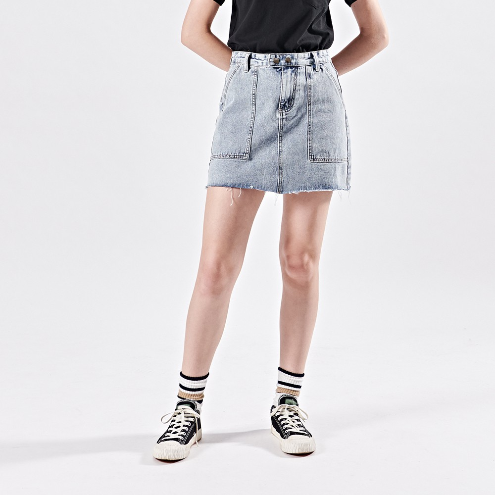 CACO-大貼袋牛仔短裙-女【B2NA062】