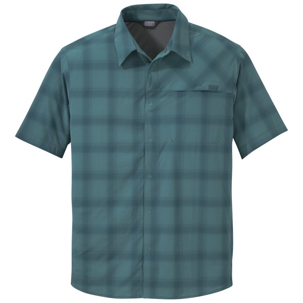 OUTDOOR RESEARCH 男 OR 透氣快乾抗UV襯衫 吸濕排汗 防曬 孔雀綠 242849 綠野山房