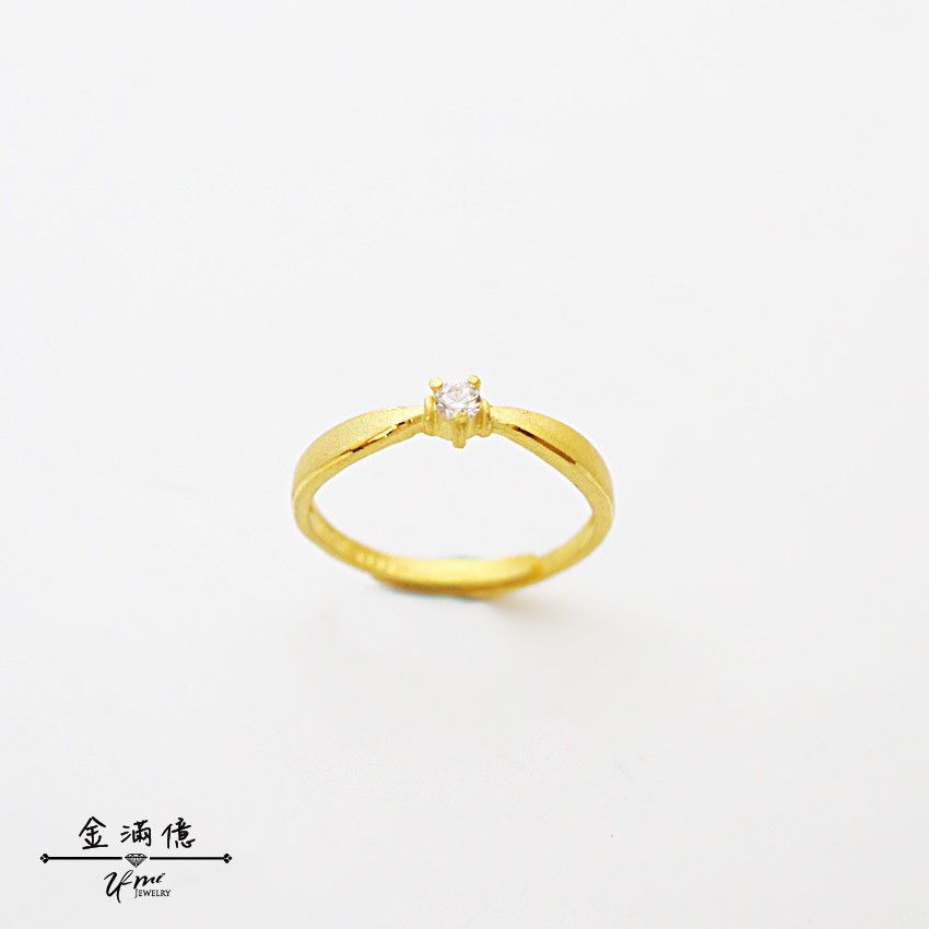 純金戒指【小公主】黃金女生戒指 女生可當尾戒 9999純金金飾