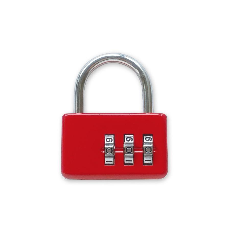 (特)手作之三碼密碼鎖(紅) SK-34D (墊腳石購物網)