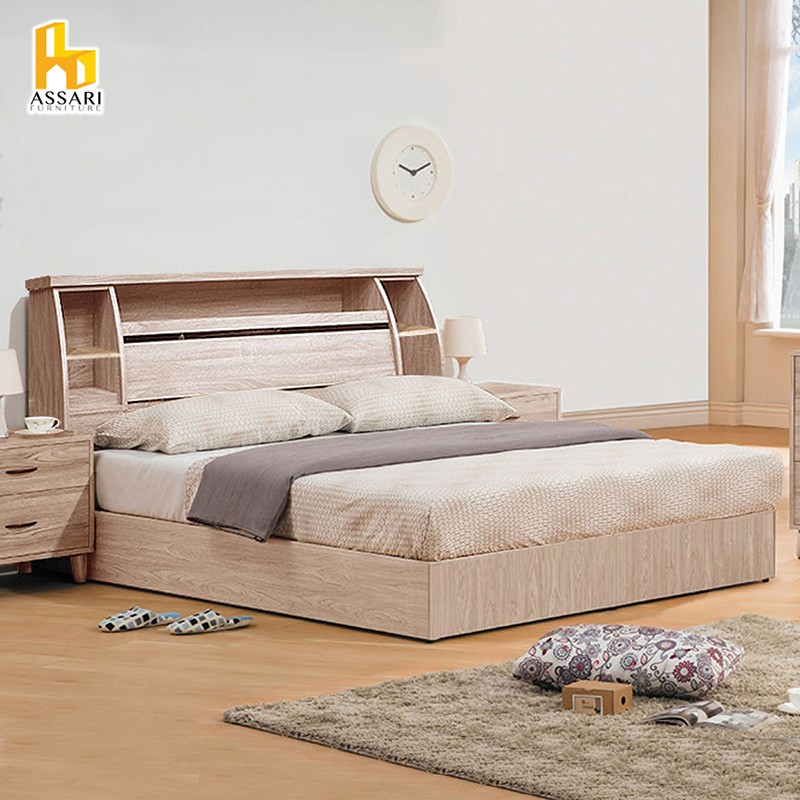 ASSARI-本田房間組二件(床箱+3分床底)(單大3.5尺/雙人5尺/雙大6尺)