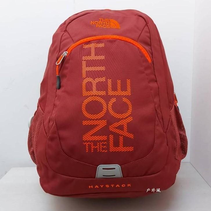 The North Face 31L   15吋電腦背包 紫檀紅/橘圖紋