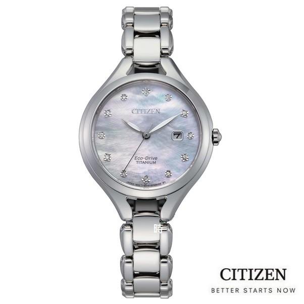 CITIZEN 星辰/光動能 鈦金屬真鑽 時尚手錶(EW2560-86D) 現貨/30mm