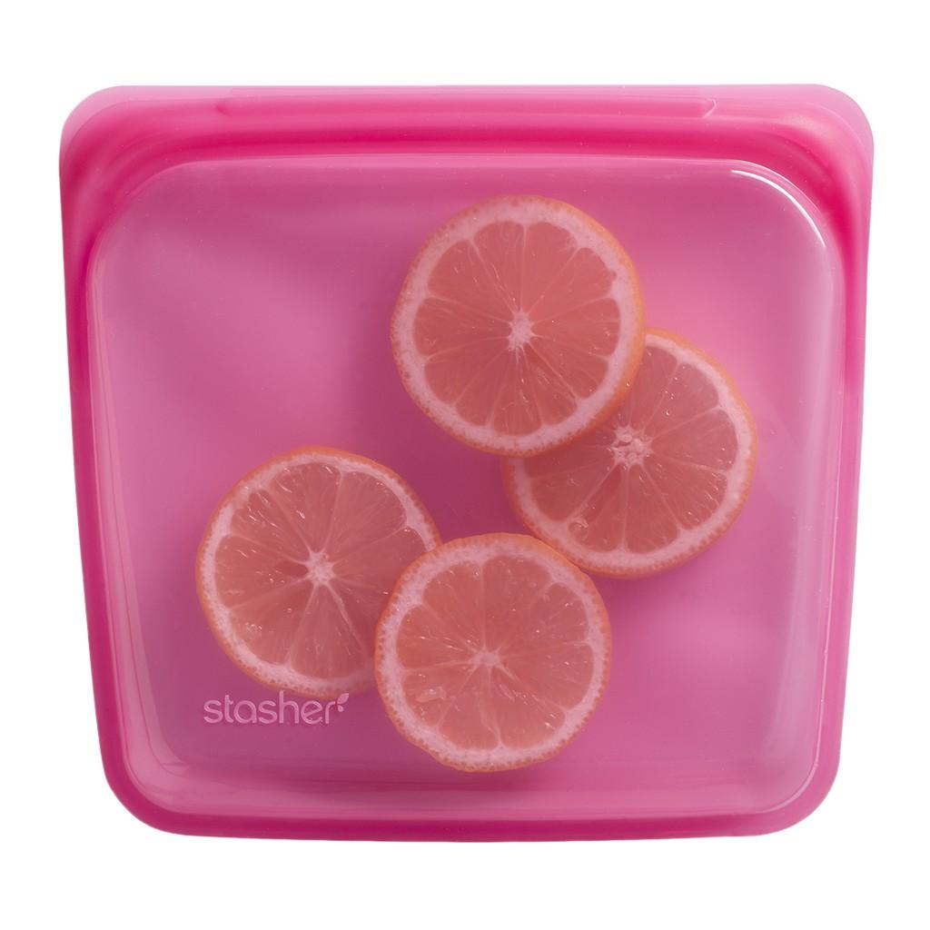 【美國Stasher】方形矽膠密封袋 - 共22色《泡泡生活》烤箱 隔水加熱 保鮮袋 微波爐 便當袋 環保
