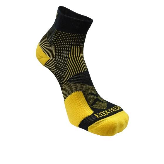 《8字繃帶》P82L 側向保護8字繃帶運動襪(黑/黃)