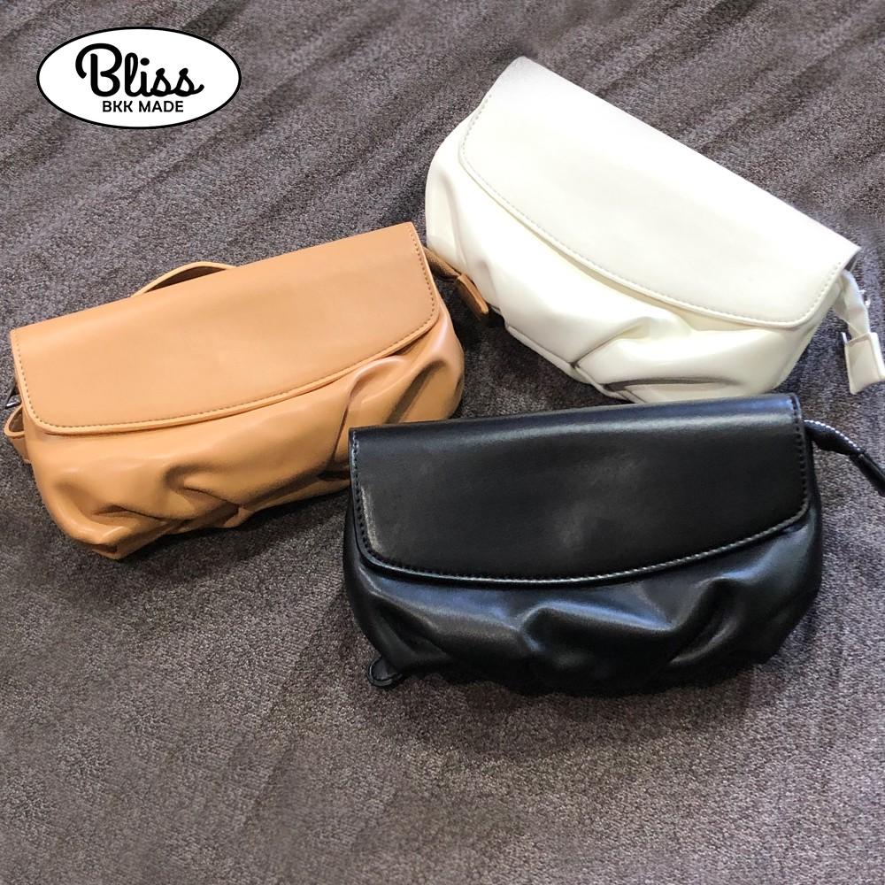 Bliss BKK 素色皮革斜跨包 腰包 時尚必備 廠商直送 現貨