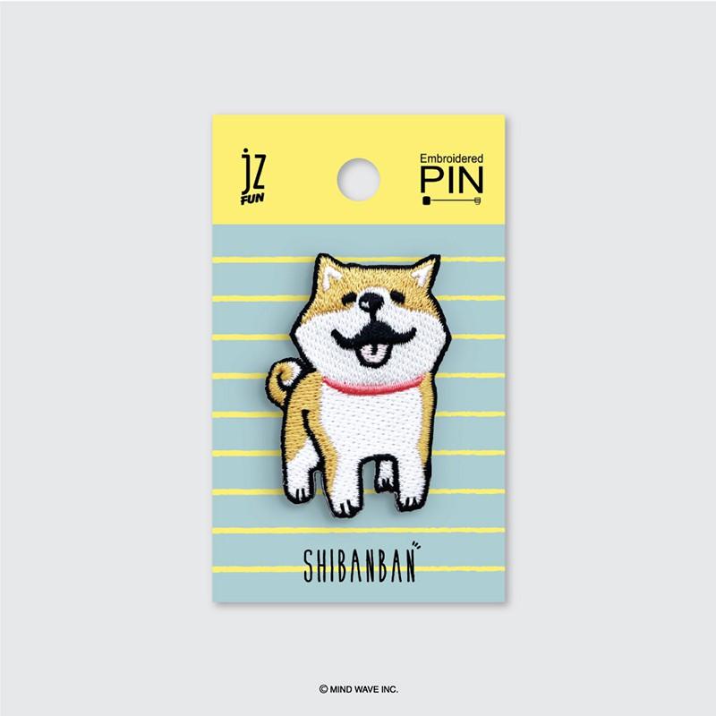 微笑柴犬刺繡造型別針(微笑) SBB-EP210401【久大文具】