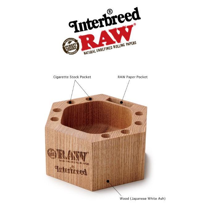 【石頭人】西班牙Raw X 日本Interbreed Wood Ashtray 聯名木頭菸灰缸