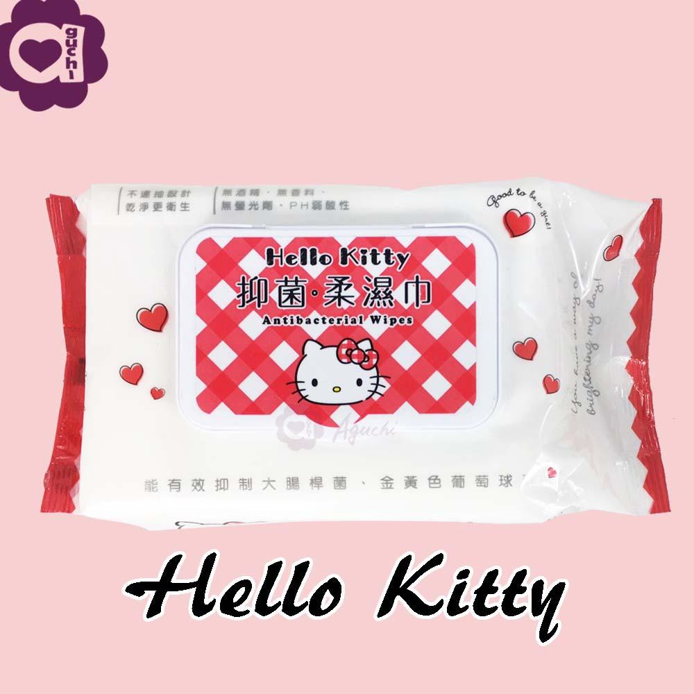 Hello Kitty 凱蒂貓抑菌有蓋柔濕巾/濕紙巾 70 抽 能有效抑制大腸桿菌及金黃色葡萄球菌