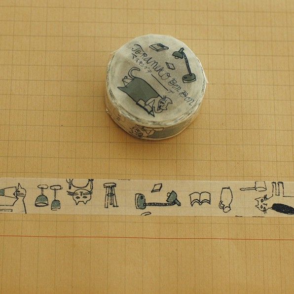 倉敷意匠 TORANEKO BONBON 和紙膠帶【B (99215-02)】