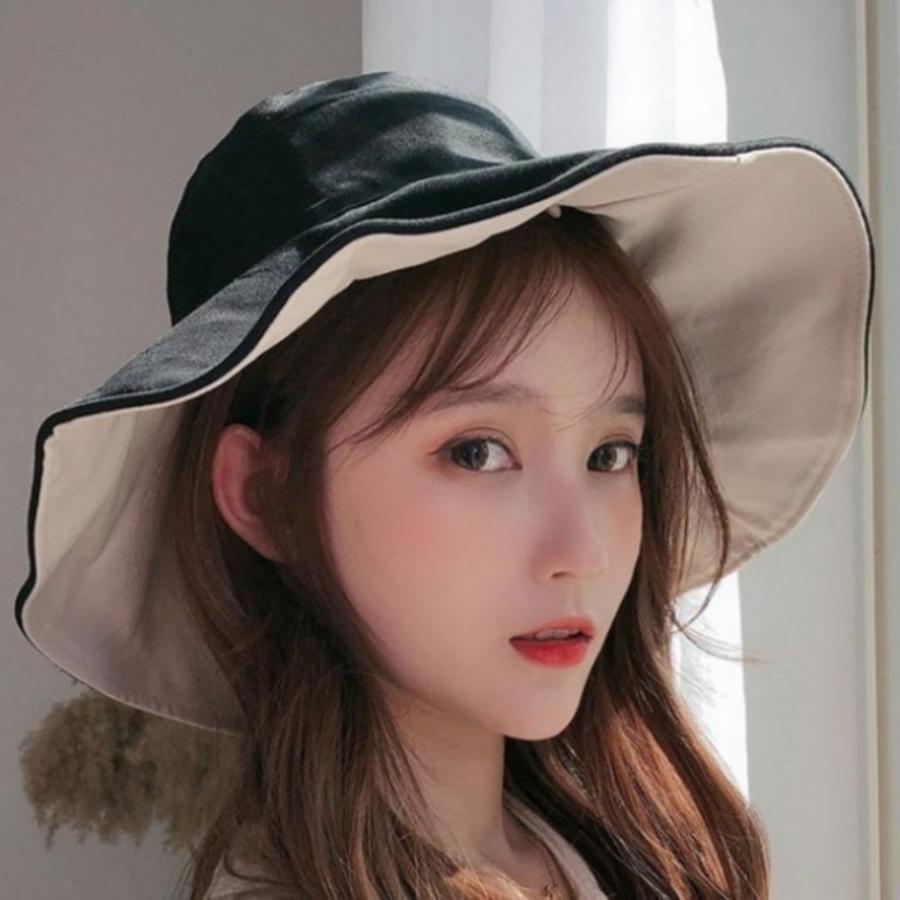 漂亮小媽咪韓國暢銷 純棉 雙色帽 漁夫帽【BW5888】 遮陽帽 女性 成人 防曬 大帽檐