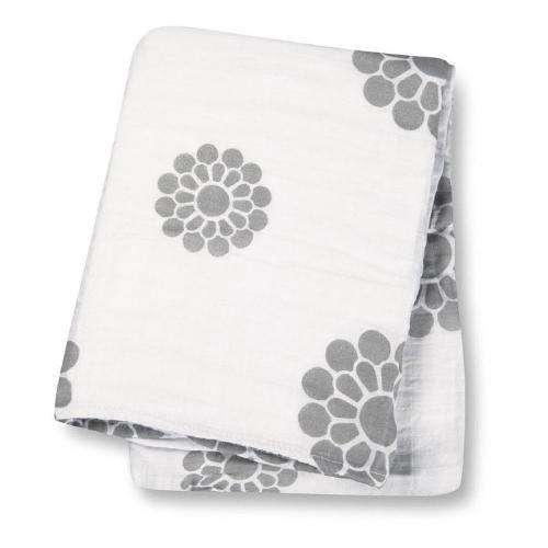 加拿大 lulujo 嬰兒包巾-典雅小花