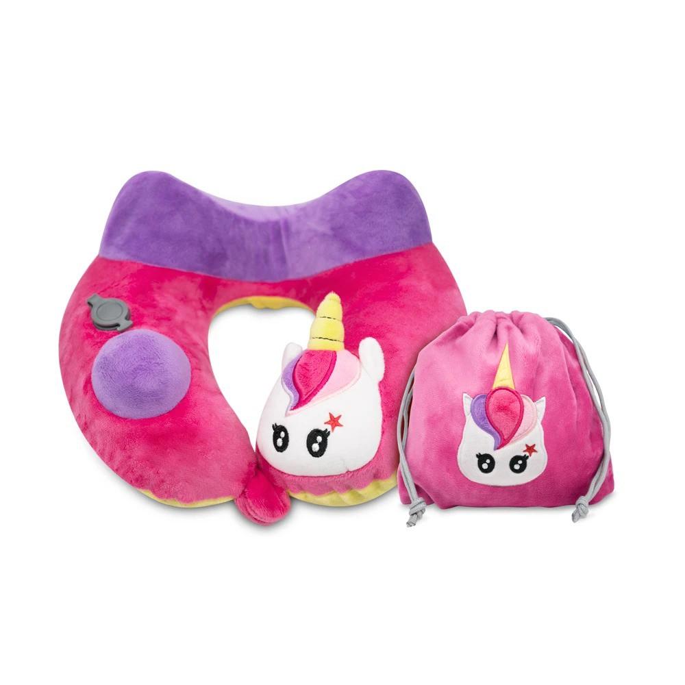 Travelmall Mini 兒童手動旅行充氣枕 獨角獸