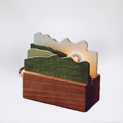 MU-WU木物製作所 層層山景夜燈 MIT台灣在地工藝家製造