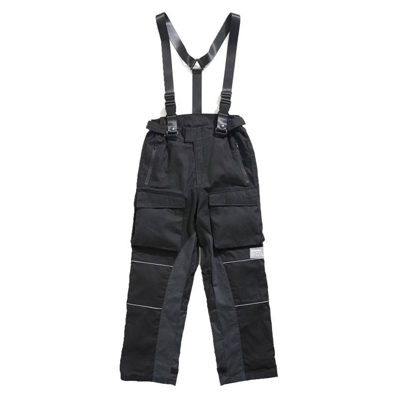 DISARRAY / Wide BDU Pants Courier 吊帶工裝褲 (黑色) 化學原宿
