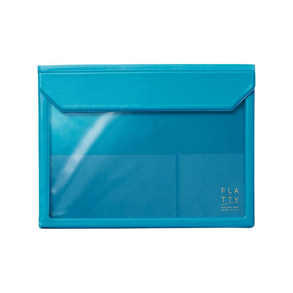 【KING JIM】5364 FLATTY 淡藍色 多用途收納袋(A5)