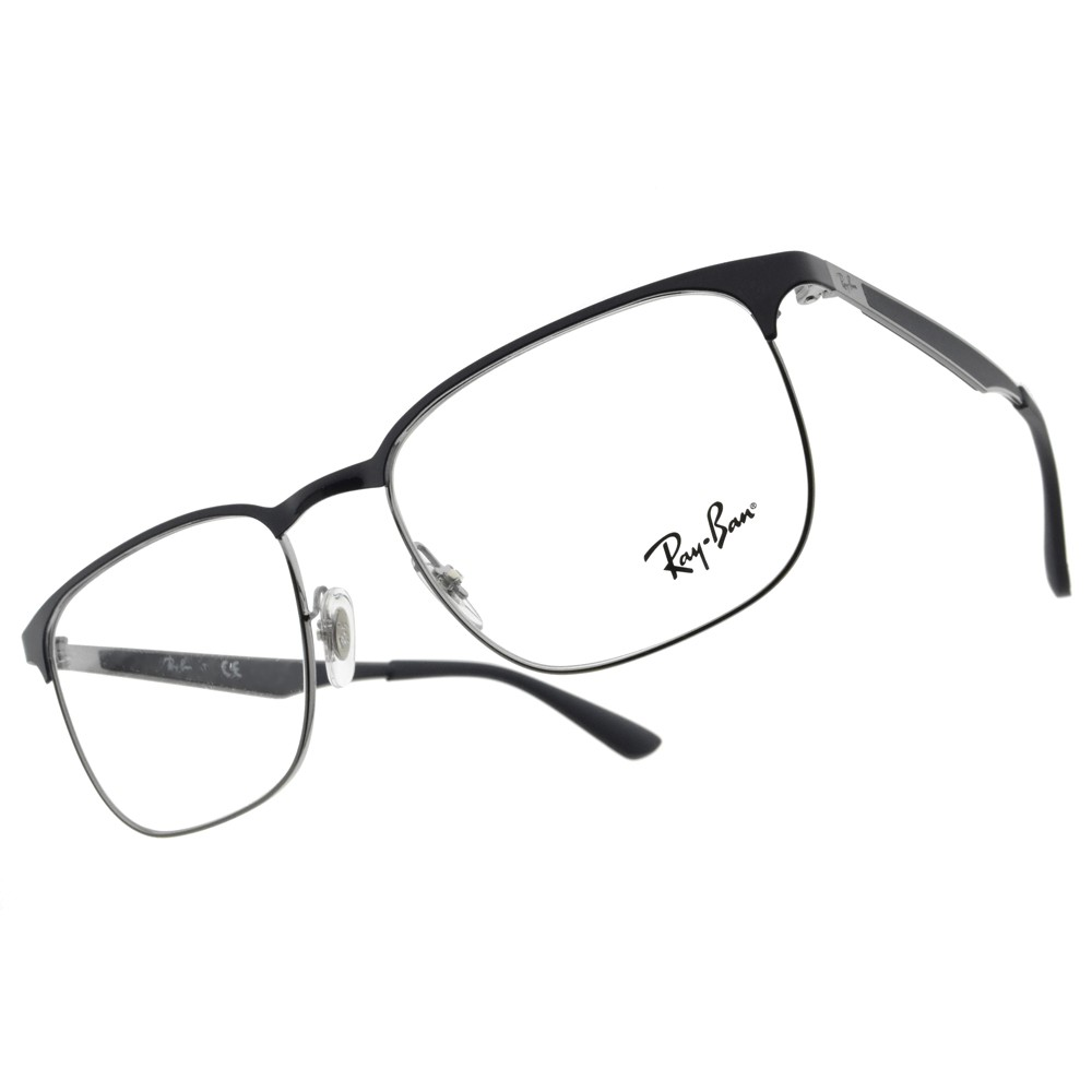 RAY BAN 光學眼鏡 RB6363 2947 知性細眉框 方框 -金橘眼鏡
