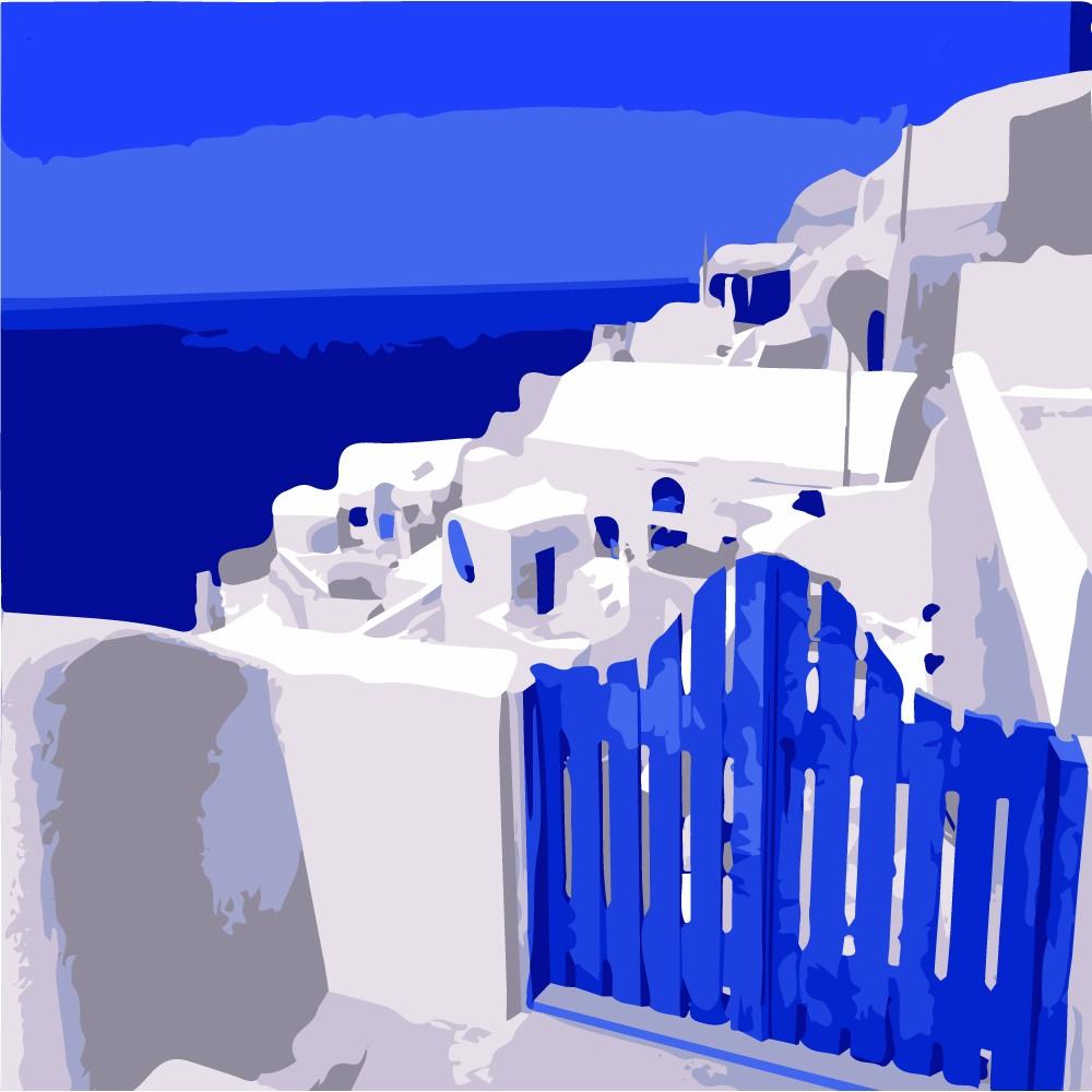 ArtLife 藝術生活 現貨 DIY 數字 油畫 彩繪 DR051 希臘愛情海系列8  20X20cm