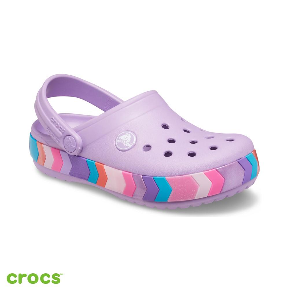 Crocs卡駱馳 (童鞋) 卡駱班彩虹條小克駱格-207007-5PR