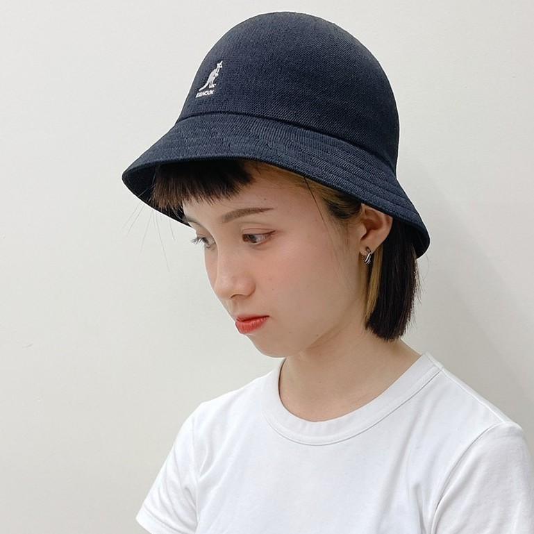 KANGOL TROPIC 透氣 織布 鐘型帽 漁夫帽 圓頂帽 袋鼠帽 W21S2094BK 黑 WT 白
