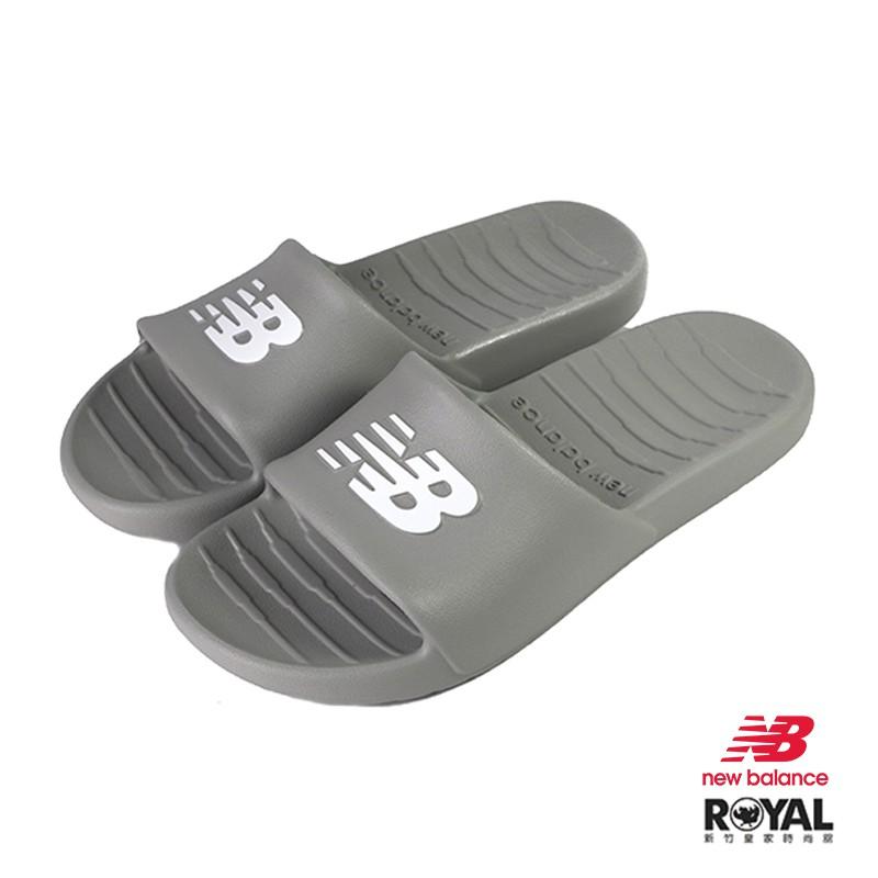 New Balance 灰色 塑膠 防水 涼拖鞋 男女款 NO.H2831【新竹皇家 SUF100TG】