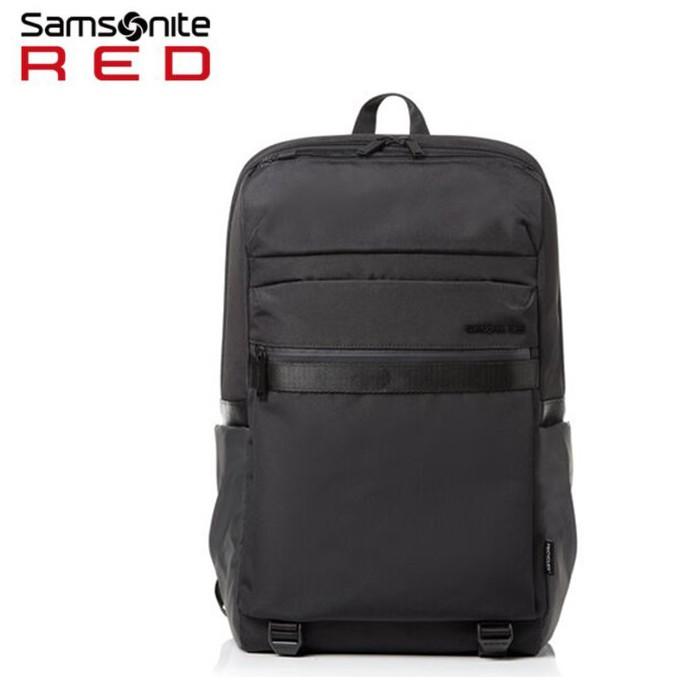 Samsonite Red【PLANTPACK 6 HT0】15.6吋筆電後背包 創新環保科技 抗菌口袋 可插掛 附保卡