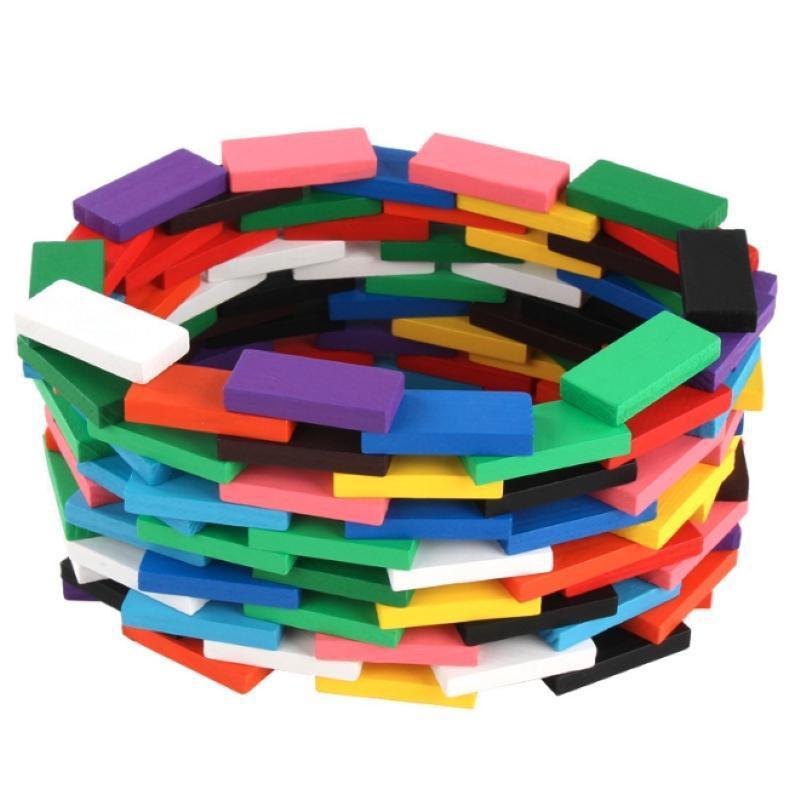 12色120片骨牌【NF622】創意積木 彩色積木 兒童益智原木骨牌機關教育玩具 益智8152DIGITAL INTER