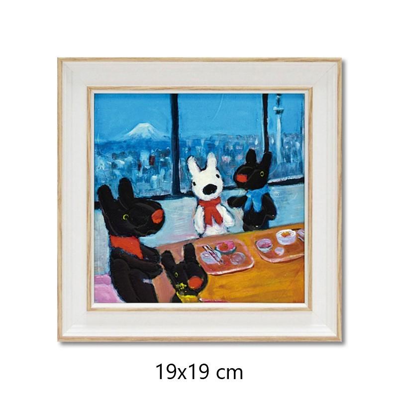 【麗莎和卡斯柏】 迷你 含框複製畫 家族聚餐