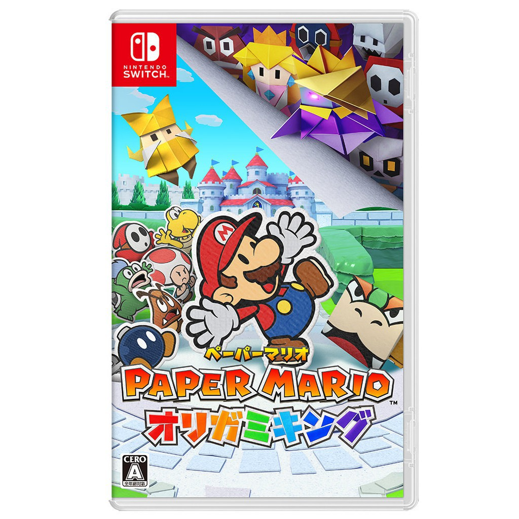Nintendo Switch 原版片 紙片瑪利歐 摺紙國王 中文版全新品【台中星光電玩】