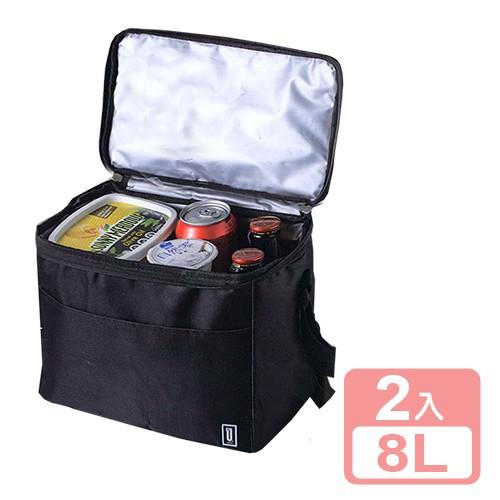 《真心良品xUdlife》酷黑摺疊保溫保冷袋8L-2入組