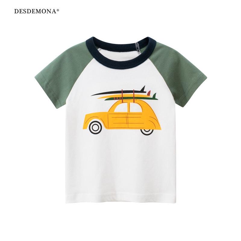27kids品牌童裝批發男童2020夏裝 韓版兒童短袖T恤衫純棉 童裝
