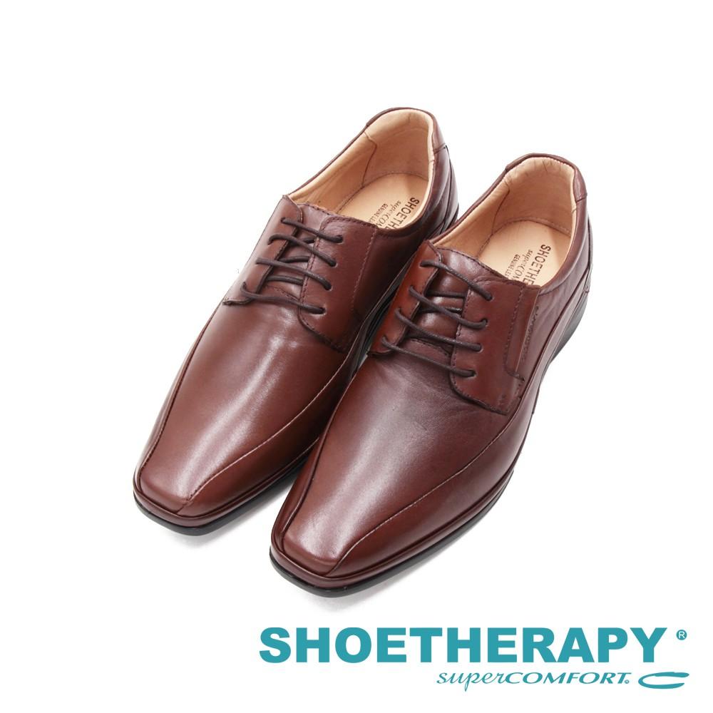SAPATOTERAPIA巴西PARIS方頭寬楦綁帶皮鞋 男鞋-咖(另有黑)