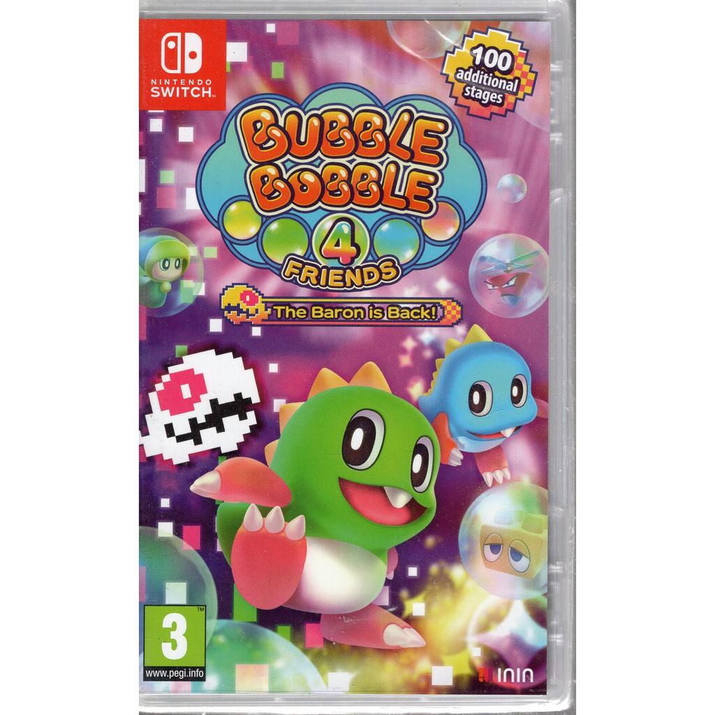 Switch遊戲 NS 泡泡龍 4 伙伴  骷髏阿怪的反擊 Bubble Bobble 4 中文版【魔力電玩】