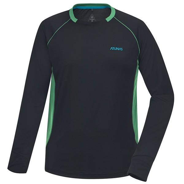 ATUNAS 歐都納男款長袖排汗T恤A1TSBB01M黑(登山屋