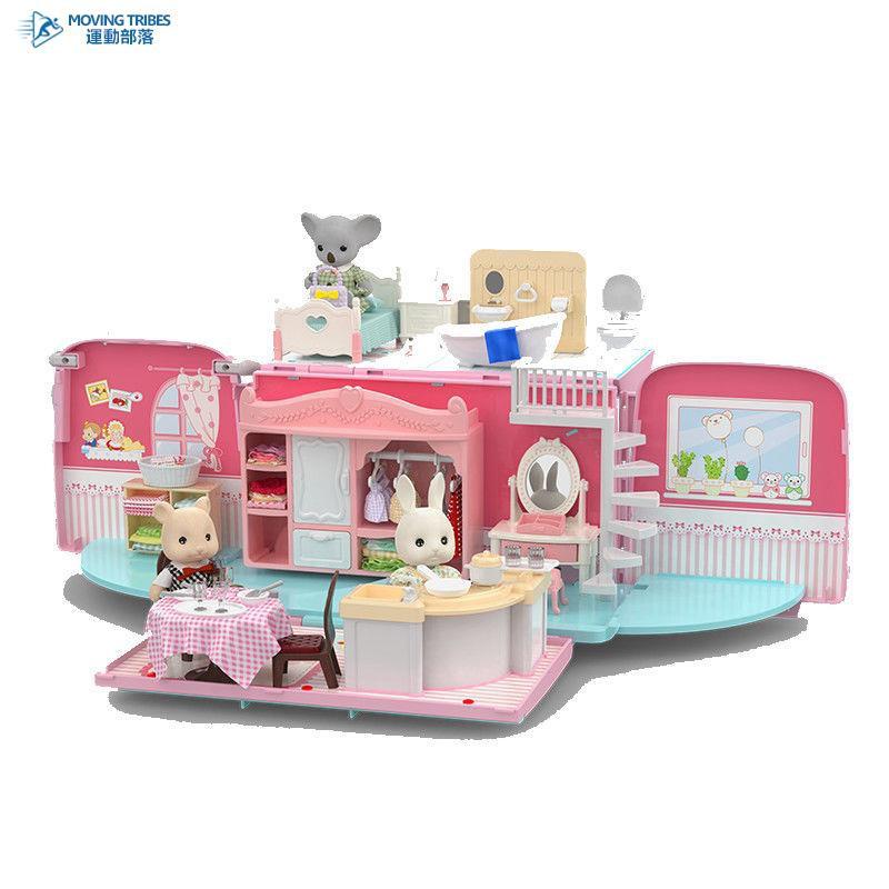 考拉日記巴士車過家家兒童玩具女孩娃娃公主城堡臥室屋別墅場景鎮