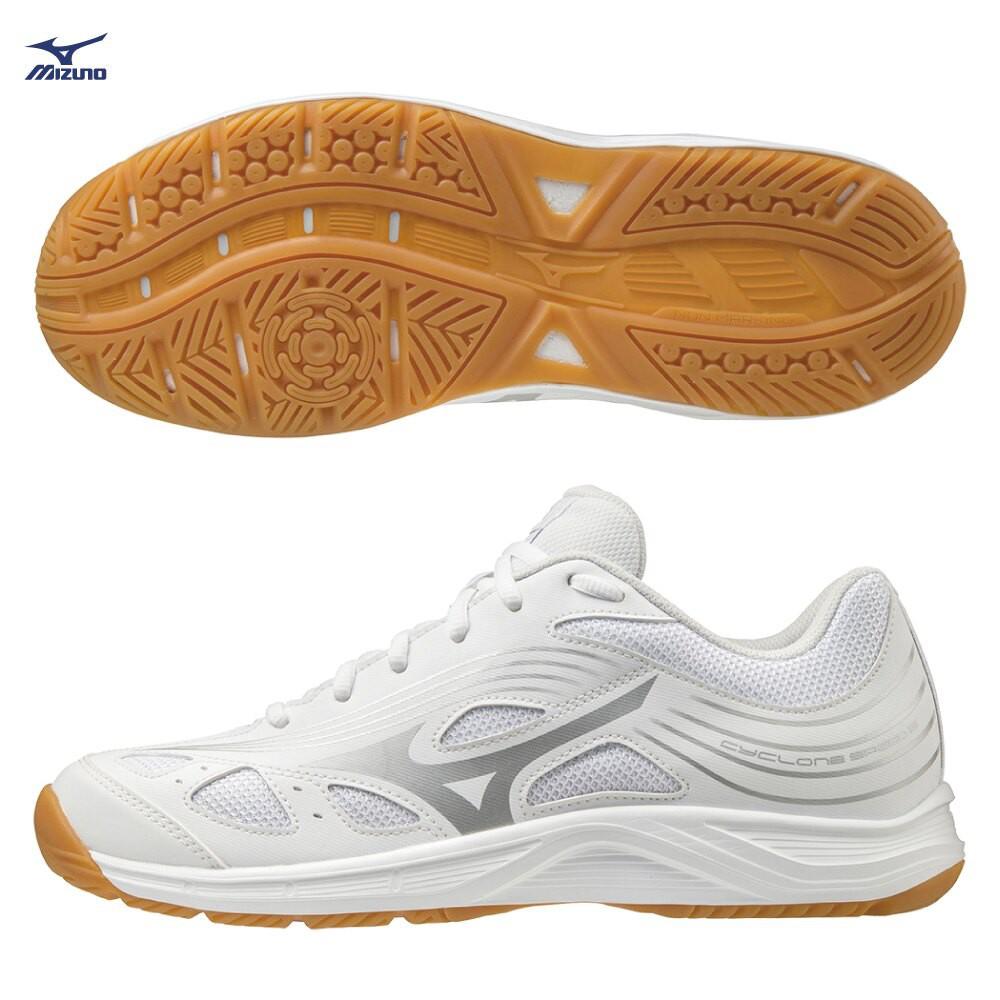 MIZUNO CYCLONE SPEED 2 男鞋 女鞋 排球 手球 橡膠 止滑 白【運動世界】V1GA218003