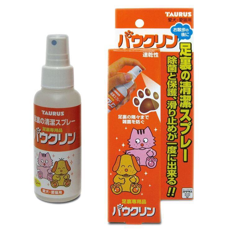 日本TAURUS-金牛座愛貓足裏清潔噴劑100ml 足部清潔 狗清潔 貓清潔