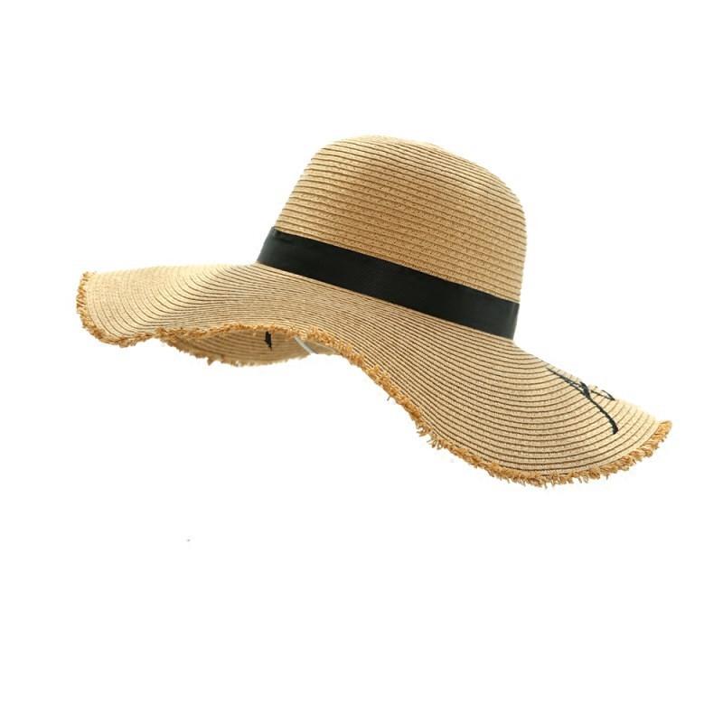 海邊太陽帽大檐網紅草帽女旅游小清新度假遮陽帽子出游防曬沙灘帽/可開超取