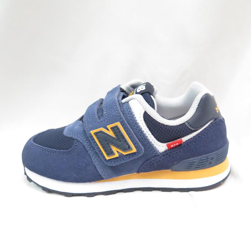 New Balance NB574 復古鞋 中童鞋 寬楦 魔鬼氈 休閒鞋 PV574SY2 深藍【iSport愛運動】