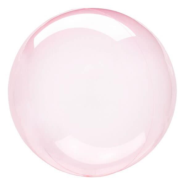 派對城 現貨 【22吋透明泡泡球-漾彩粉】 歐美派對 生日氣球 鋁箔氣球  派對佈置 拍攝道具