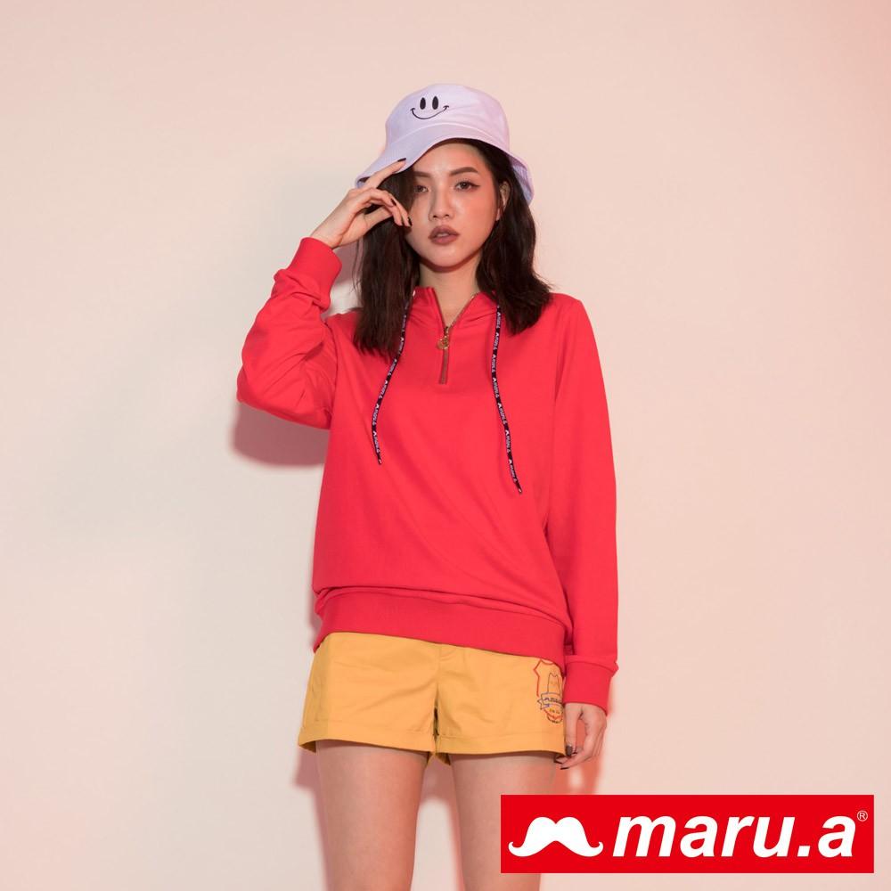 maru.a (93)超個性maru.a拉鍊連帽上衣(紅色)