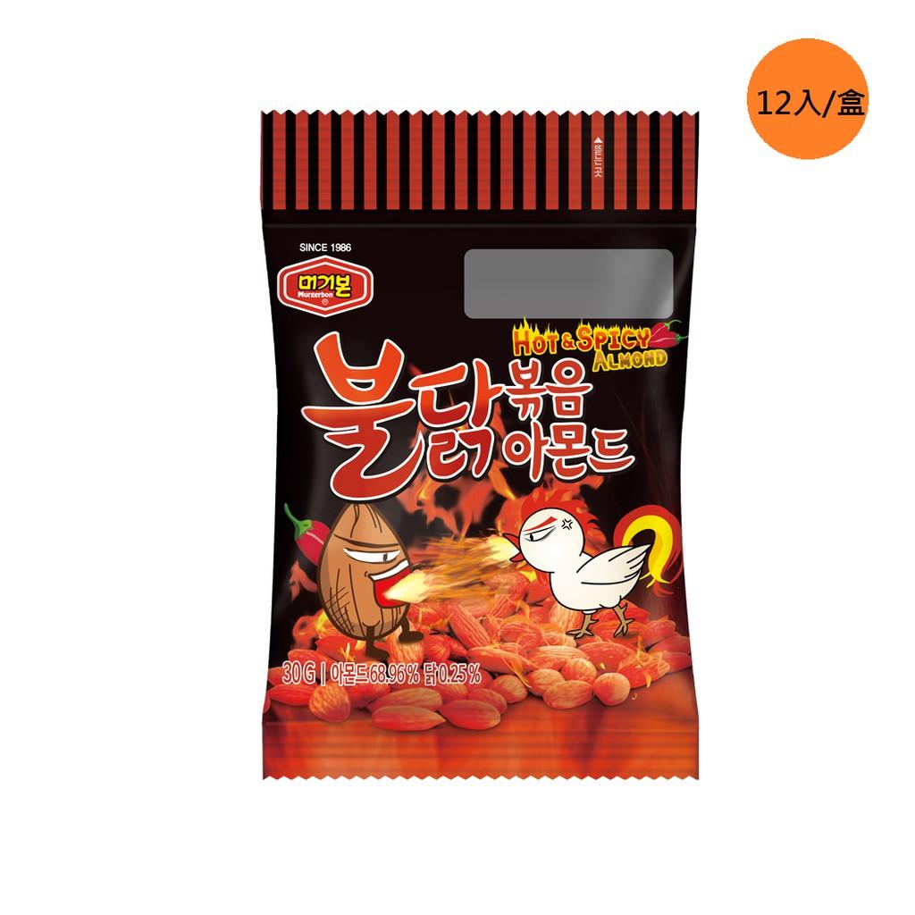 韓國 Murgerbon  火爆強檔 銷售第一 現貨 杏仁果 辣雞味炒杏仁果-單盒裝12包(360g)