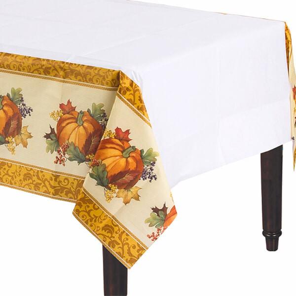 派對城 現貨 【紙桌巾 - 豐收佳節】 歐美派對 餐具 紙杯 紙盤 派對用品 派對餐具 感恩節 派對佈置 拍攝道具