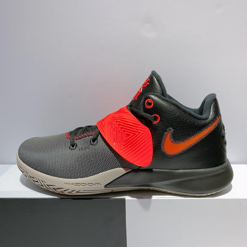 NIKE KYRIE FLYTRAP III EP 男女款 灰黑紅 舒適 氣墊 緩震 運動 籃球鞋 CD0191-011