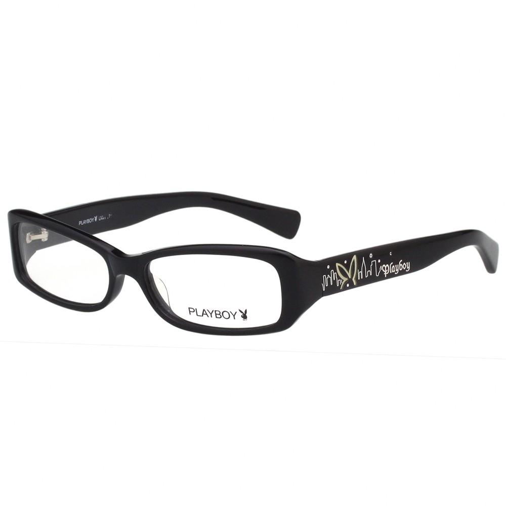 PLAYBOY-時尚光學眼鏡-黑-PB85097